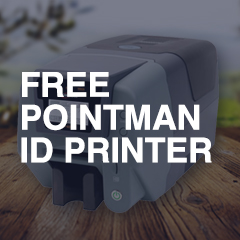 FREE Pointman ID Card Printer with Payroll Professional